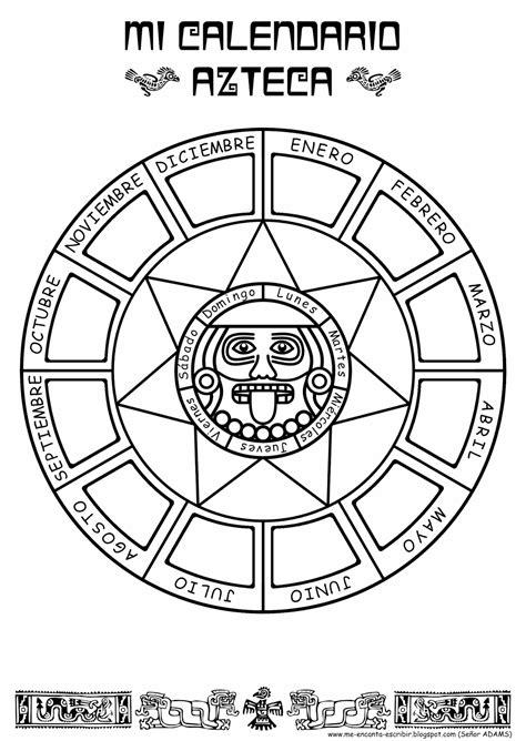 Calendario Azteca Meses Me Encanta Escribir En Espa 241 Ol Mi Calendario Azteca