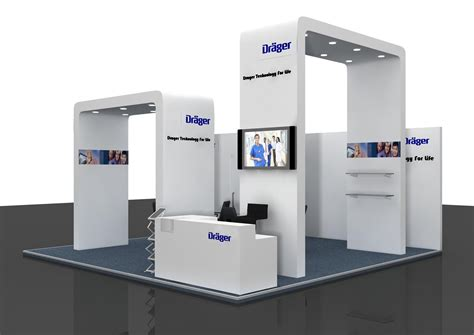 layout for exhibition booth contraction designing