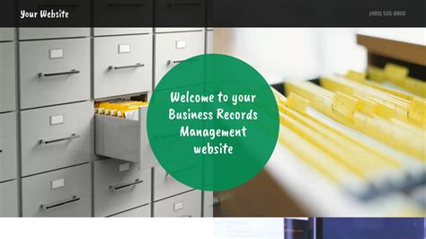 Business Records Exle 2 Business Records Management Website Template Godaddy
