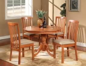 Hartland round dinette kitchen table set with 4 cushion chairs cherry