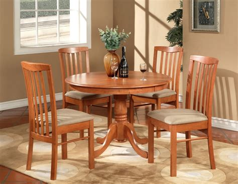 kitchen table and chairs 5pc hartland round dinette kitchen table set with 4