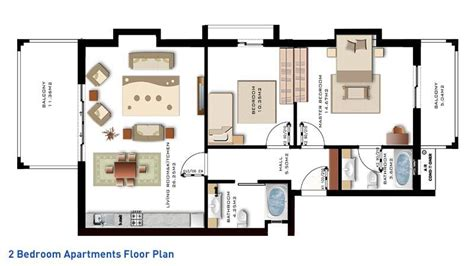 luxury two bedroom apartment floor plans and to the