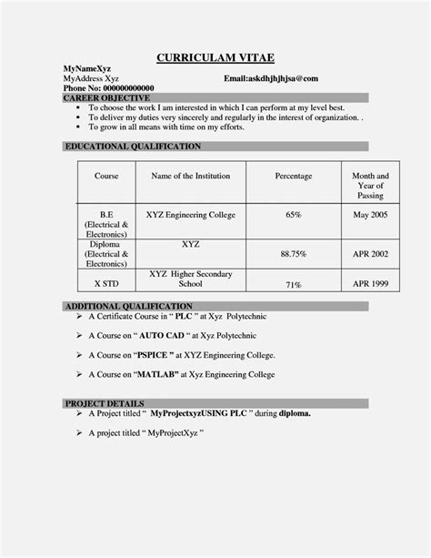 resume sles for freshers civil engineers free engineering fresher resume format resume template easy