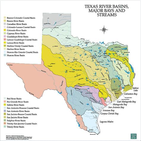 map of texas cities and rivers tpwd gis lab map downloads