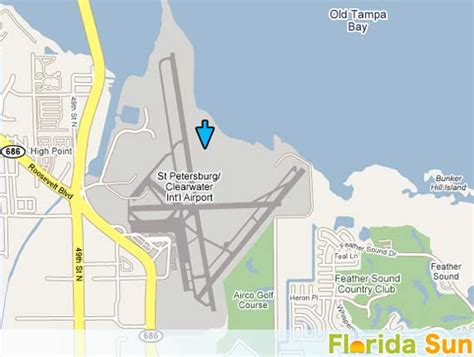 St. Petersburg/Clearwater Airport Airport   Rental Car Map