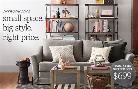 Pottery Barn Small Spaces | small spaces pottery barn