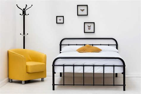black metal king size bed frame henley victorian hospital style black metal bed frame