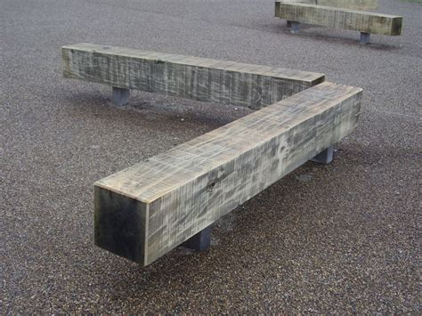 railway sleeper bench new fixed oak benches