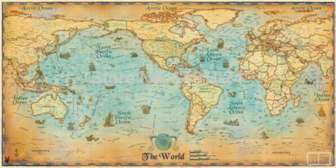 world map clear image 1pc ancient vintage large clear modern antique