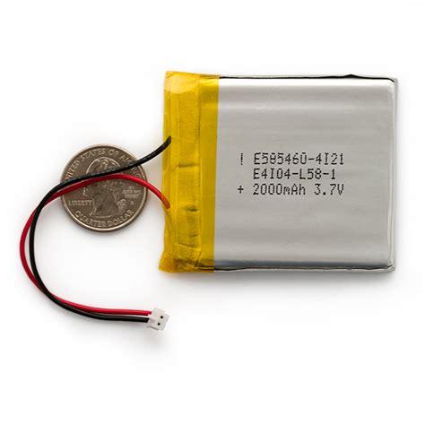 Batt 74v 1000mah lithium ion battery 2000mah prt 08483 sparkfun
