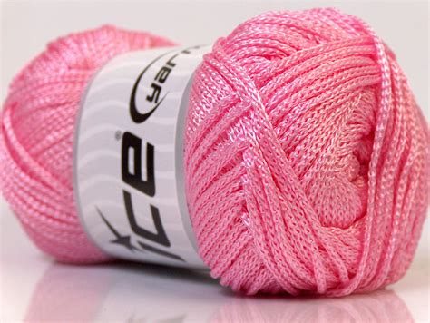 Yarn Macrame - macrame cord light pink basic plain yarns yarns