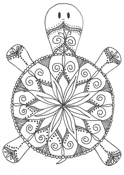 coloring pages for adults turtles turtle mandala coloring pages pinteres