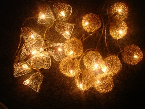 golden silver christmas xmas tree lights decoration 10