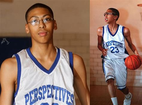 photo of hornets anthony davis pre unibrow and short