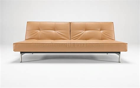camel couch camel black or white leatherette modern sofa bed by