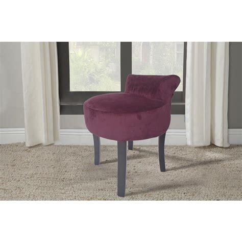 vanity purple velvet stool dwc 432dp the home depot