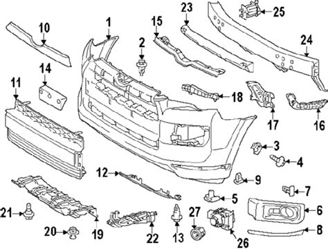 2000 Toyota 4runner Front Bumper Diagram toyota tundra front bumper parts diagram toyota auto