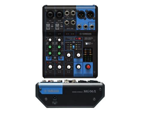 Yamaha Mixer Mg06x yamaha mg06x mixer passivo 6 canali effetti spx 6