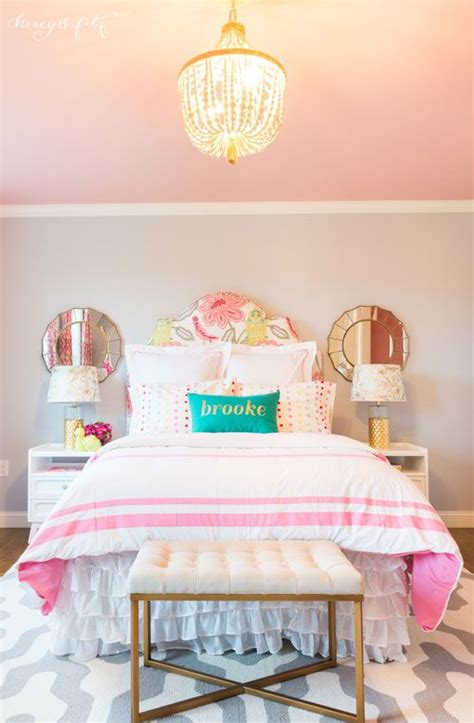 girls room paint ideas with feminine touch amaza design brooke s pink sky big girl room brooke d orsay girls