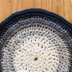 crocheted t shirt yarn rug thrifty below