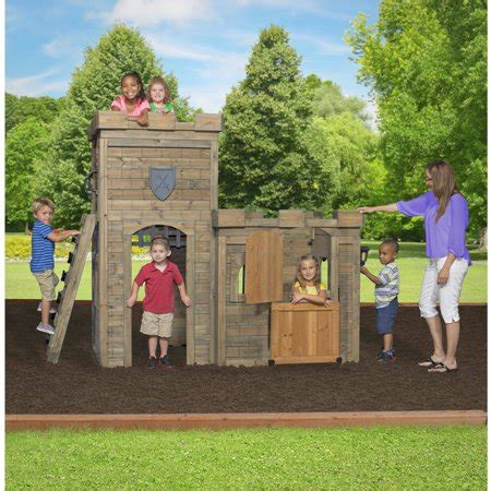 backyard discovery castle wooden playhouse