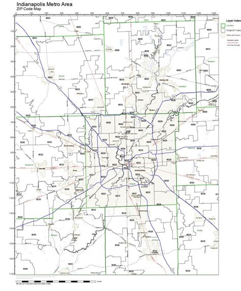 indiana zip code map workingmaps zip code maps