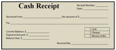 free printable money receipt money receipt format exles vatansun