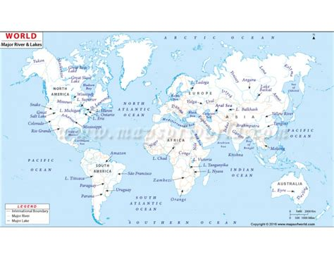 world map with all lakes map of rivers and lakes on earth pictures to pin on