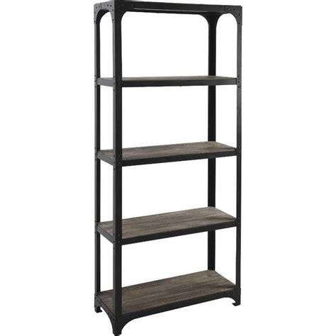 etagere metall etagere bibliotheque en bois et metal achat vente