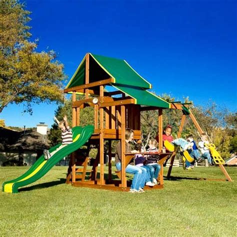 adventure playsets atlantis swing set 12 2 tiered canopy wooden play structure slide northern