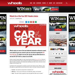 wheels mag win a 1 000 visa card competitions com au