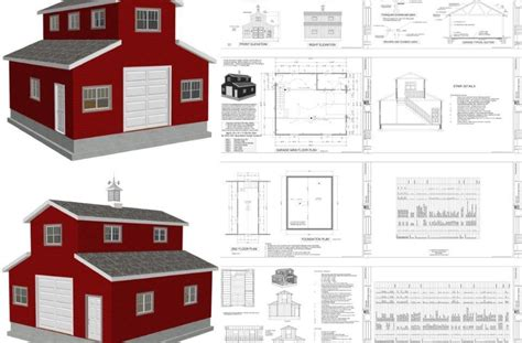 Barn Plans With Living Space easy to pole barn plans with living space gatekro