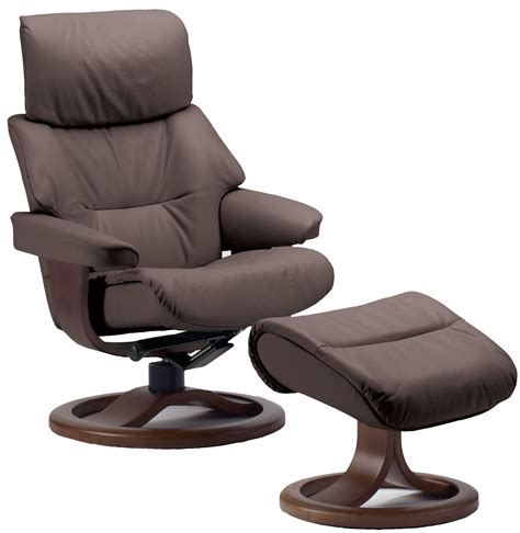 swedish recliners fjords grip ergonomic leather recliner chair ottoman