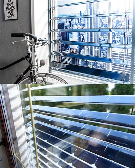 window blinds technology solargaps appear to be normal window blinds but they re actually solar power generators techeblog