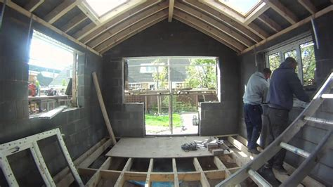 Add On Garage Designs timelapse replacing an old conservatory with a shiny new