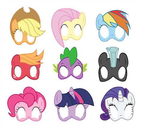 printable mask my little pony my little pony photo booth props printable my little pony