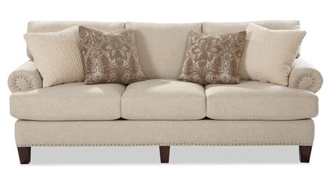 transitional sofa transitional sofa with rolled panel arms and vintage tack