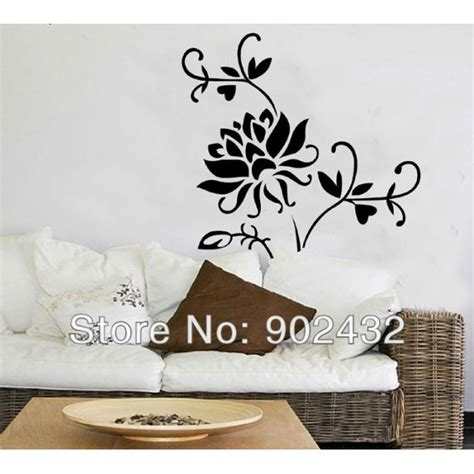 removeable wall stickers removable wall sticker flower home decoration wall decals jm7040