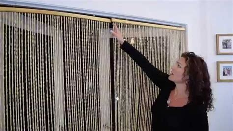 how to hang a beaded curtain wooden beaded curtains shopwildthings demo video youtube
