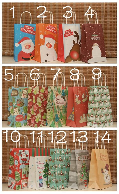paper gift bag gift decoration display snowman merry paper gift