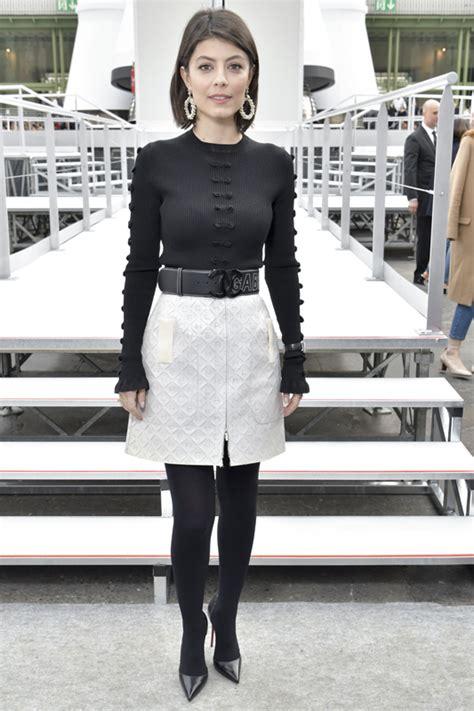 alessandra mastronardi crush chanel outfits on celebrities attending f w 2017 18 chanel