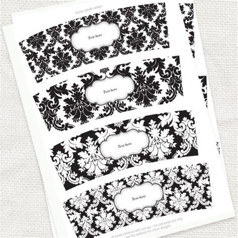 votive card template search results for editable black and white gift tag