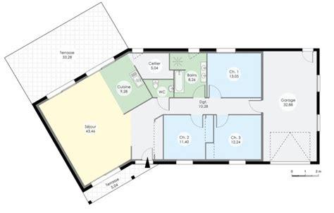 Idée Maison Plain Pied 3477 by Id 195 169 E Plan Maison De Plein Pied