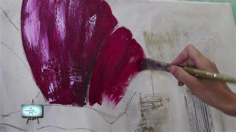 youtube decorarte en casa 2 186 parte cuadro con fondo de diferentes texturas y flor