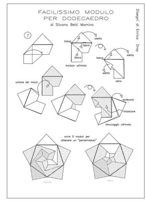 How To Make A Origami Dodecahedron O Como Fazer - modular free diagrams instructing you how to fold unit