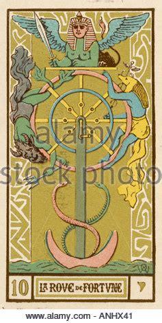 Tarot 10 Wheel Of Fortune tarot card 10 la roue de fortune the wheel of fortune