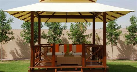 Canvas Garden Gazebo Canvas Roof Gazebo Quality Outdoor Shading Dubai
