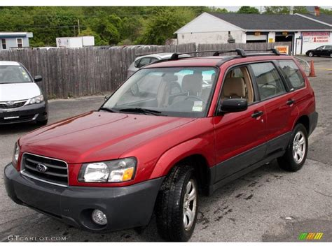 red subaru forester 2000 2004 subaru forester red 200 interior and exterior images