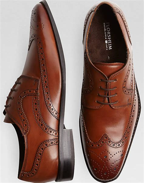 Parapluie Arthur Sepatu Pria Brown florsheim wingtip lace up shoes s dress shoes