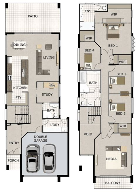 floor plans for narrow blocks linea small lot and narrow block home design by gw homes